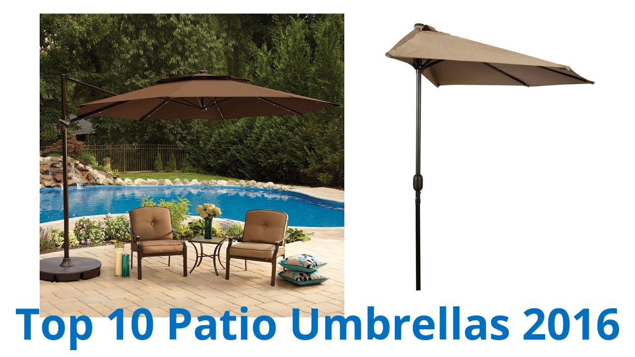 10 Best Patio Umbrellas 2016   YouTube