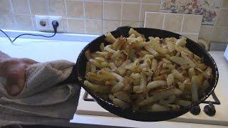 Жареный Картофель с луком, Домашняя кухня.