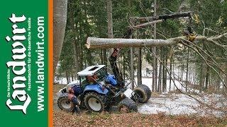 Mobiler Forstkran für den Standardtraktor