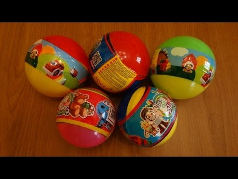 Toys Land - Spiderman opens 5 surprise balls - YouTube
