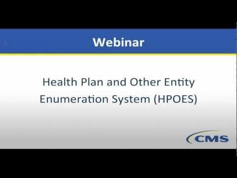 Health Plan And Other Entity Enumeration System (HPOES)