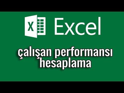 Ders02 - Excel ile çalışan performansı hesaplama