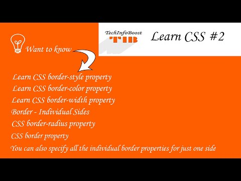 Learn CSS - Border Related Properties