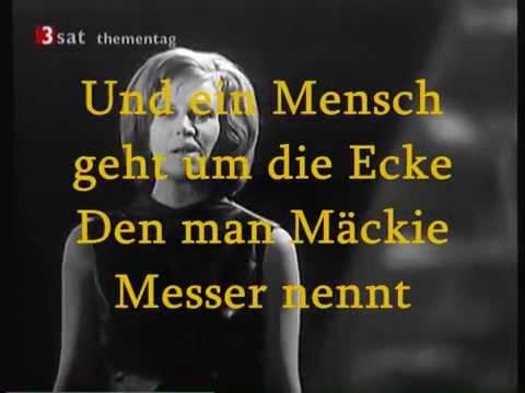 Hildegard Knef - Mackie Messer (karaoke)