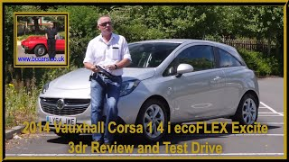 Review and Virtual Video Test Drive In Our 2014 Vauxhall Corsa 1 4 i ecoFLEX Excite 3dr LY64JWE 2