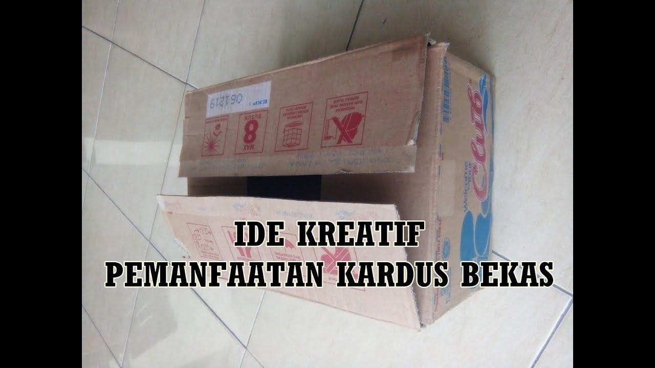 IDE KREATIF PEMANFAATAN KARDUS BEKAS || KERAJINAN BARANG ...