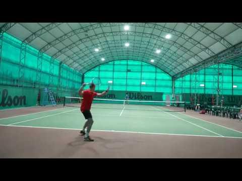 Tennis match at Marsa Sports Club, Malta