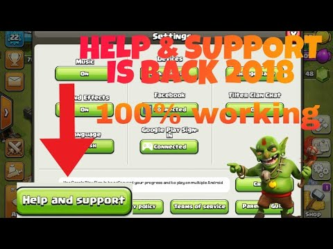 HOW TO GET HELP & SUPPORT BACK IN 2018 || CLASH OF CLANS 2018 UPDATE WATCH NOW!