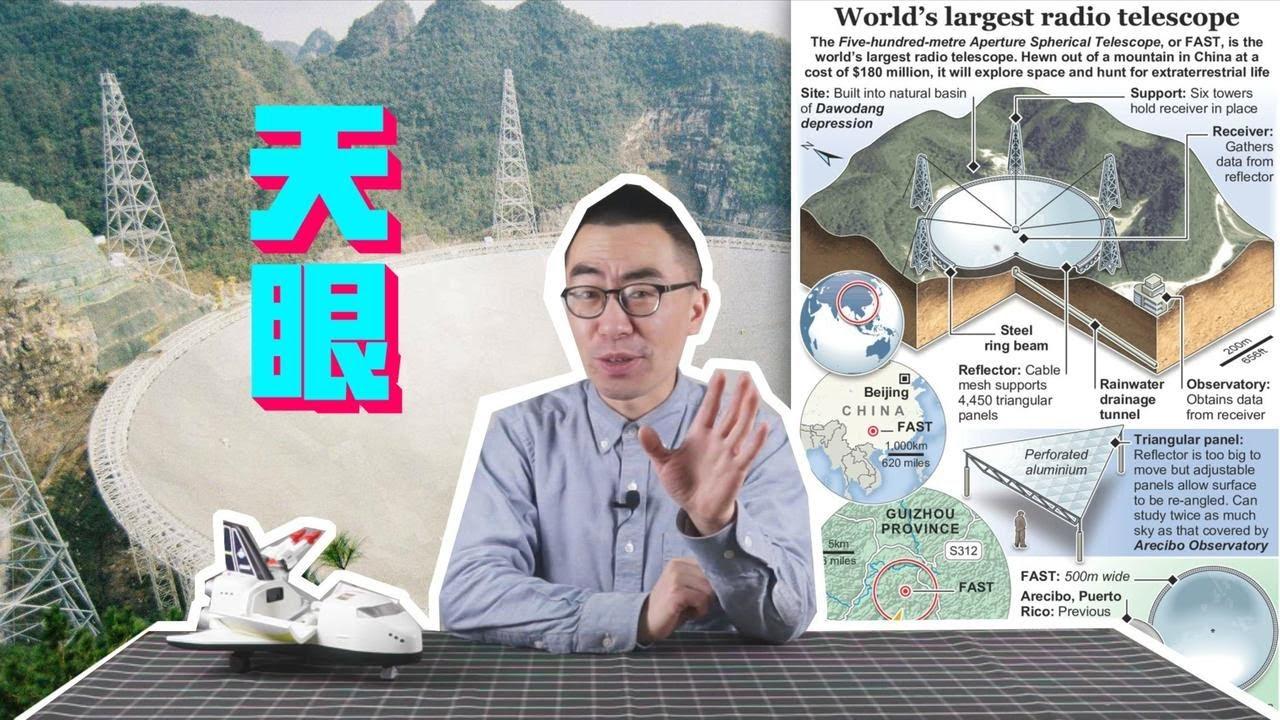 """世界最大单体射电望远镜""""天眼"""",能帮助中国第一个找到外星生命吗?【科学火箭叔】"""
