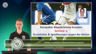 eVideo: Kompakte Abwehrblöcke knacken (1) - Taktische Grundsätze - Spiellösungen gegen 4er Kette