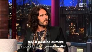 Russell Brand @ David Letterman Show 10/06/13 SUB ITA