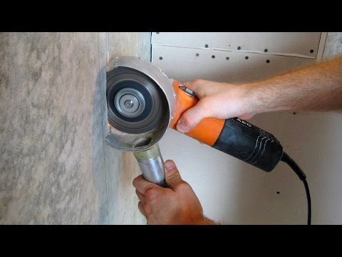 Как без пыли пилить бетон - самодельный кожух №2