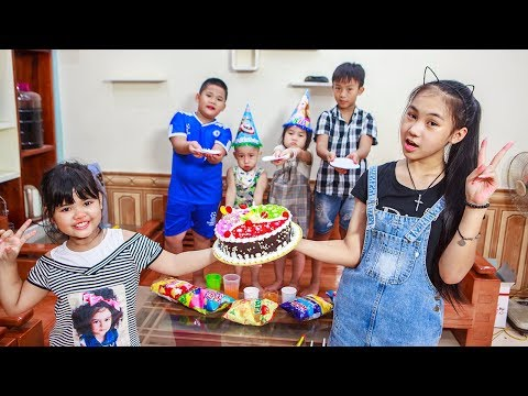 Kids Go To School | Day Birthday Of Chuns Children Make a Birthday Cake Color Rainbow