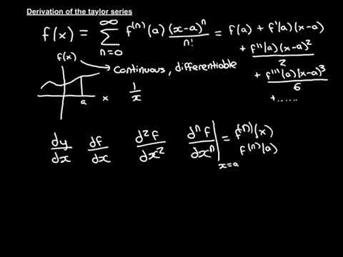 Derivation Of The Taylor Series Part 1