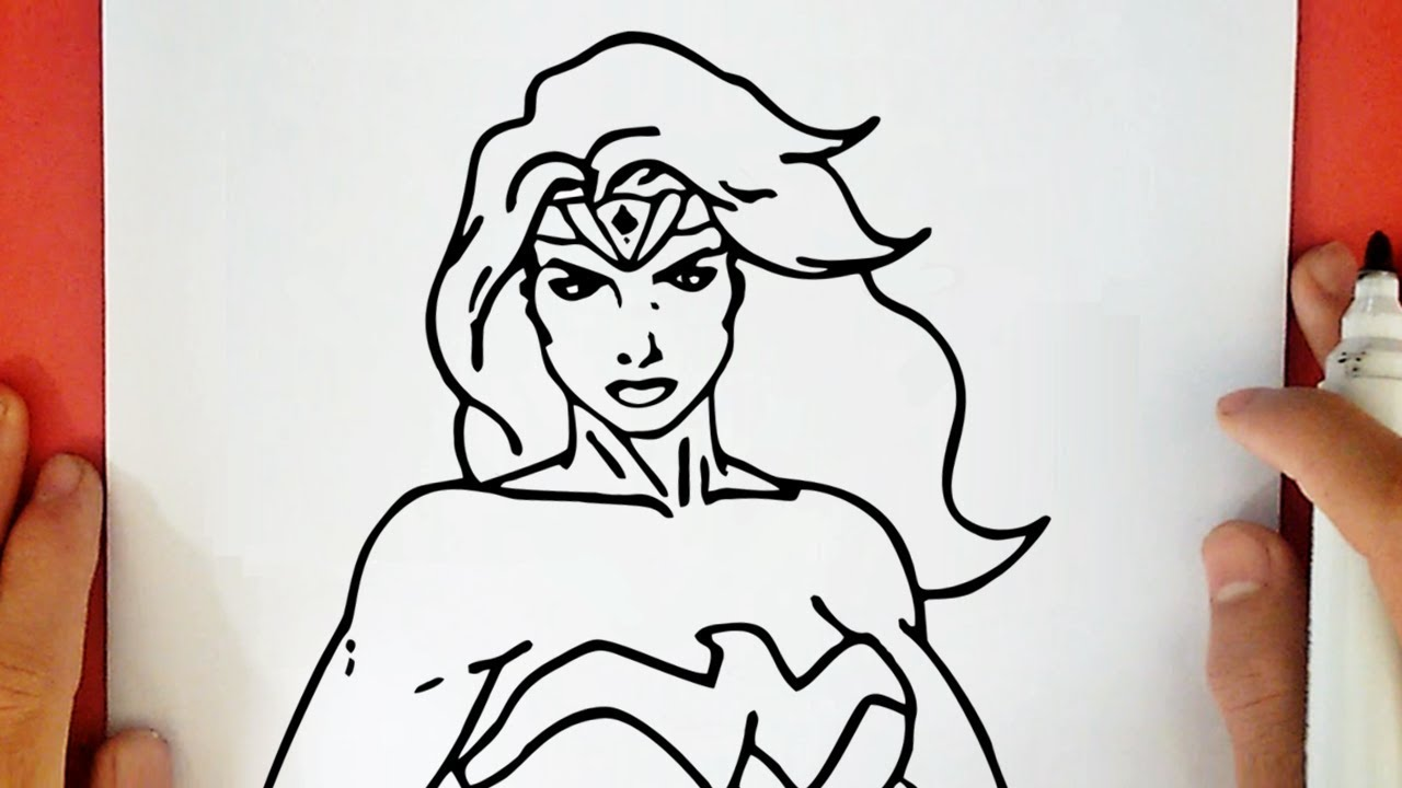 How to draw wonder woman from justice league youtube - Dessin wonder woman ...