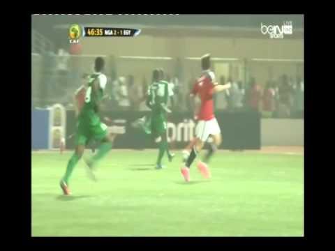 هدف منتخب مصر الأول رمضان صبحي في نيجريا 2-1 بأمم أفريقيا