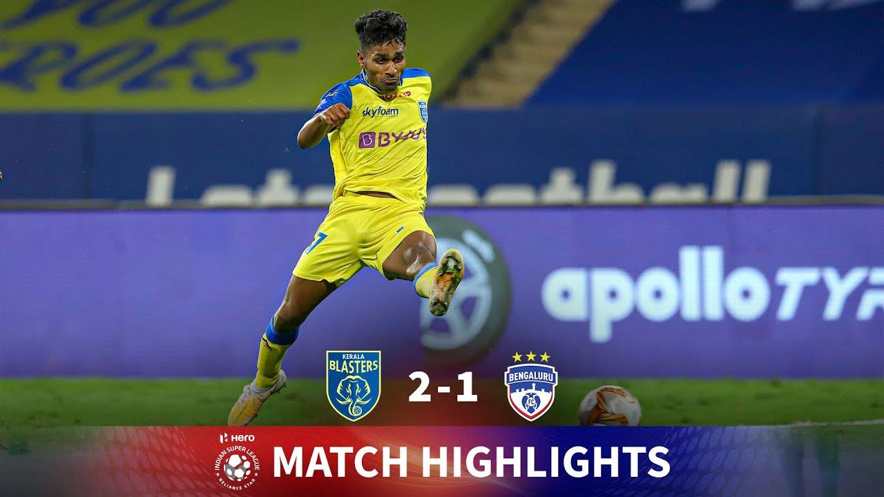Download Highlights - Kerala Blasters 2-1 Bengaluru FC - Match 65   Hero ISL 2020-21