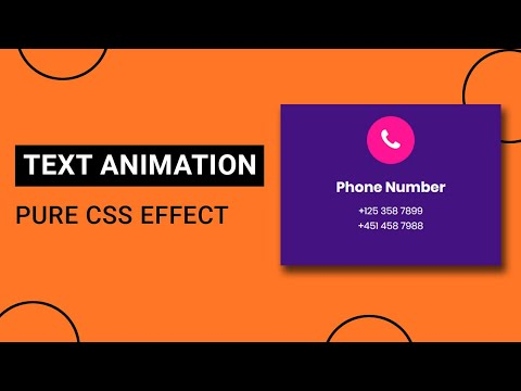 CSS3 Text Animation on Hover