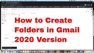 How to Create Folders in Gmail EASY 2020 Version