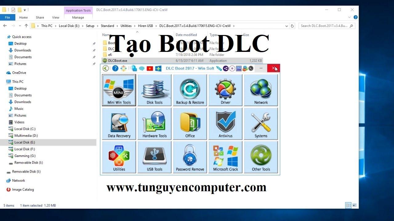 Tạo boot USB DLC Boot 2017   Tạo boot USB bằng 1 click đơn giản  Create bootable USB DLC 2017