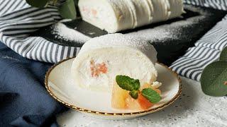 【雲かな?☁️】ふんわりさっぱりシトラスロールケーキ