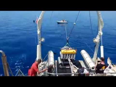 Timelapse of launching the submersibles