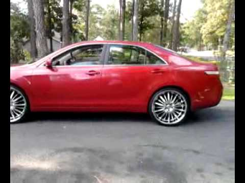 2007 Red Camry On 22 S Youtube