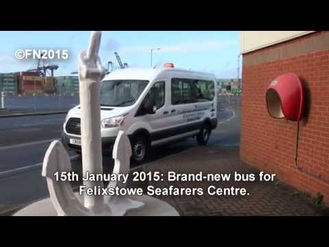 Felixstowe Seafarers Centre new bus . .