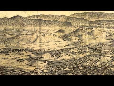 Los Angeles California 1909 Panoramic Bird's Eye View Map 7071