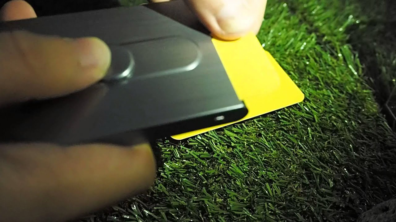 Sliding Style Business Card Holder - YouTube