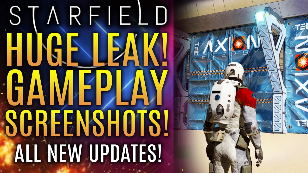 Starfield - HUGE LEAK Reveals New Gameplay Images and All New Info and Updates!