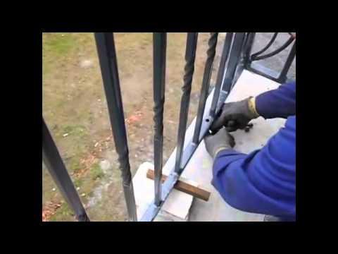 Nowość Montaż balustrady z profilu zamkniętego . - YouTube VL13