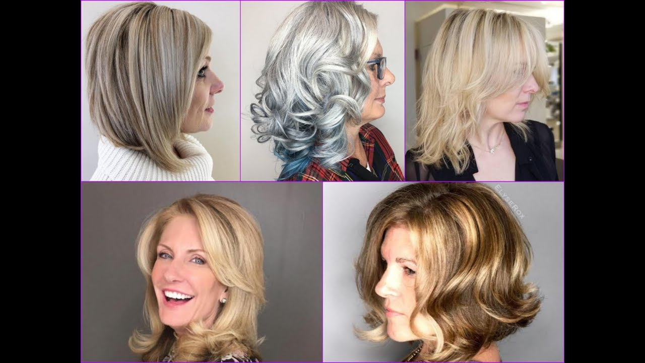 Top-30 Stylish Medium Hairstyles for Women Over 50 - YouTube