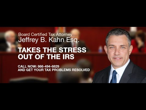 Tax Attorney Jeffrey Khan Can Help Resolve Your IRS Tax Problems - YouTube