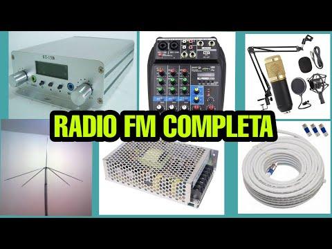 RADIO FM completa transmissor fm ST15B microfone BM800 mesa interface 4 canais
