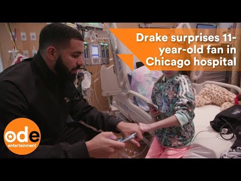 Drake surprises 11-year-old fan in Chicago hospital