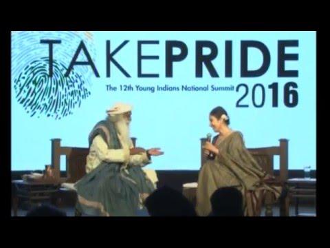 Take PRIDE 2016: - Manisha Koirala In Dialogue With Sadhguru Jaggi Vasudev