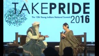Take PRIDE 2016: - Manisha Koirala in dialogue with Sadhguru Jaggi Vasudev thumbnail