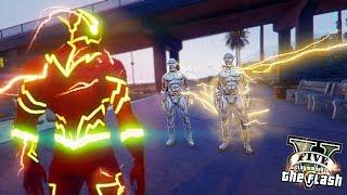 Godspeed VS The Flash ! Battle On Water (GTA 5 Ultimate Flash Mod)