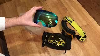 Обзор новой модели горнолыжной маски COPOZZ и QUIKSILVER