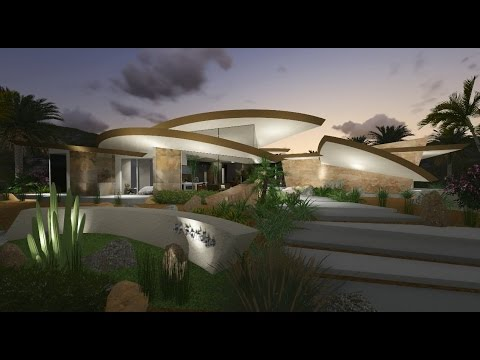 Exotic Modern Architecture Desert Home - YouTube