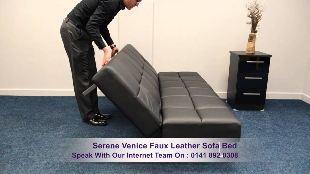 - Serene Venice Faux Leather Sofa Bed - YouTube