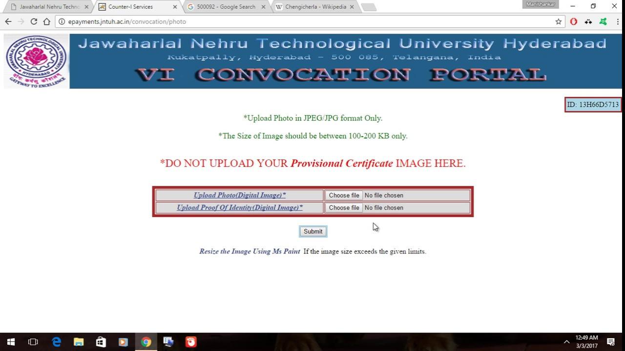 JNTUH VI Convocation Details