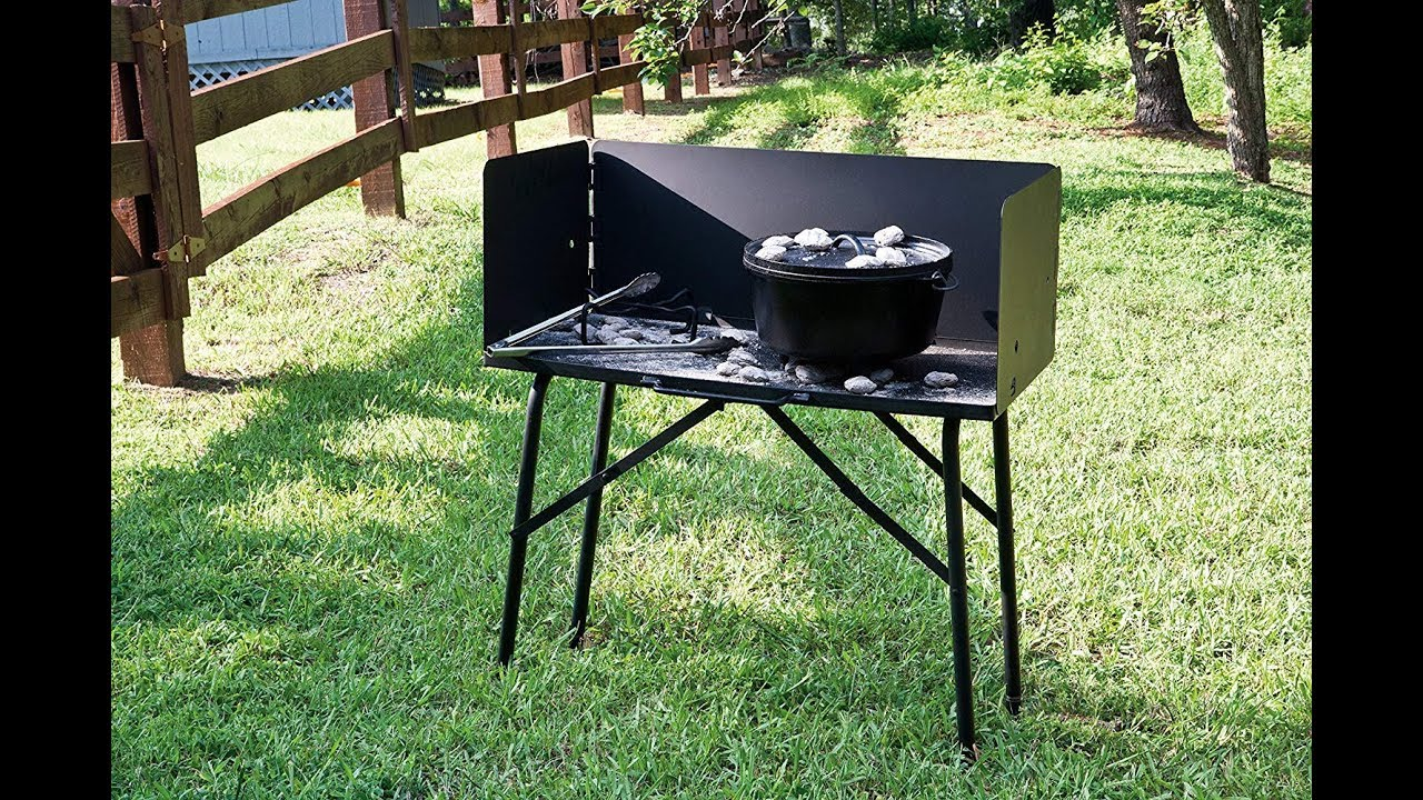 Lodge A5 7 Camp Dutch Oven Cooking Table