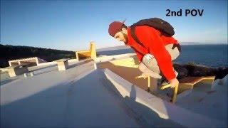 Parkour vs Security - Climbing a roof!