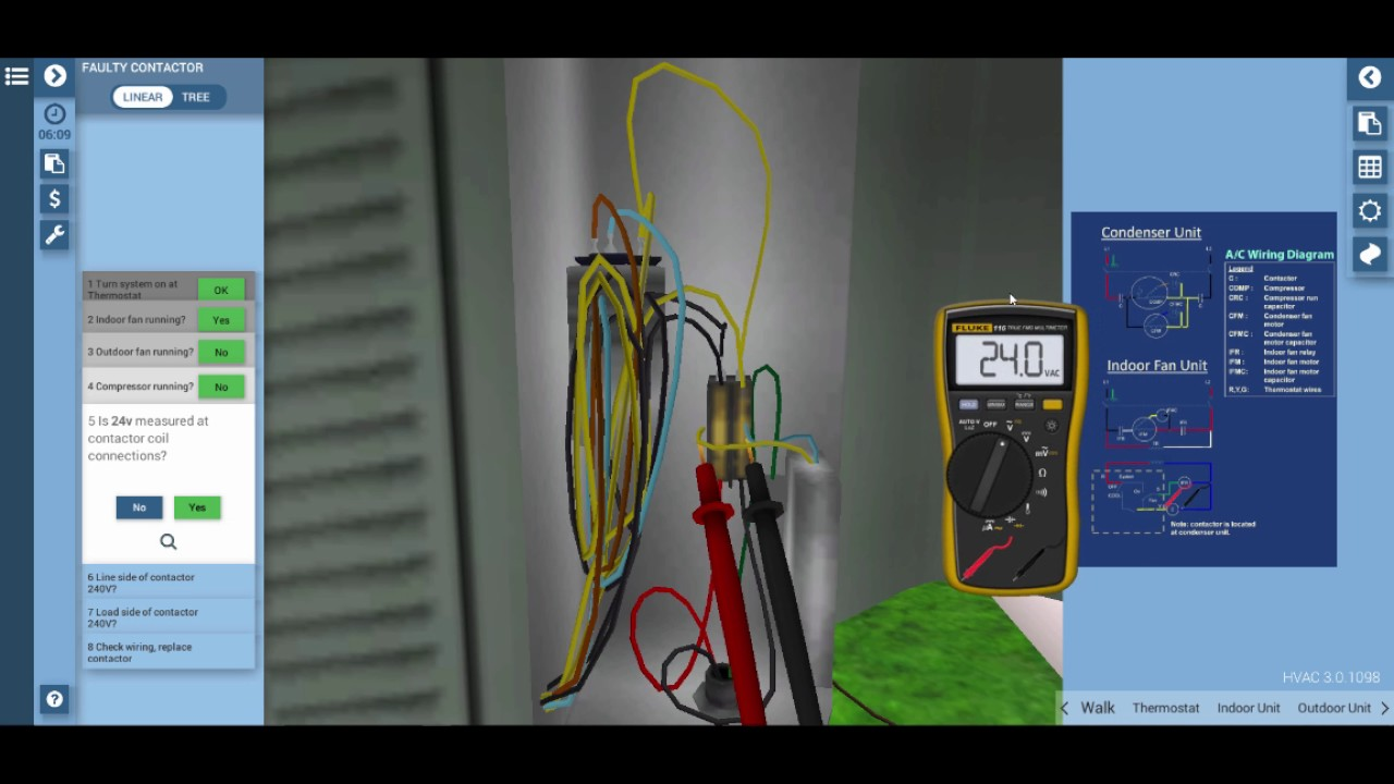 Split Residential AC Contactor Troubleshooting - YouTube