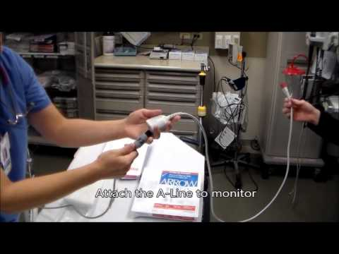 A Line Arterial Monitoring : Arterial line set up youtube