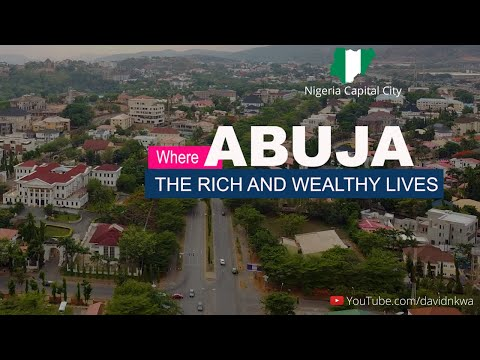 Drone Shot of Maitama the Safest and Most Expensive Place to live in Abuja, Capital City of Nigeria