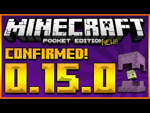 ★MINECRAFT POCKET EDITION 0.15.0 - UPDATE NEW BIOMES, RESOURCE PACKS, SHULKER & MORE (MCPE 0.15.0)★