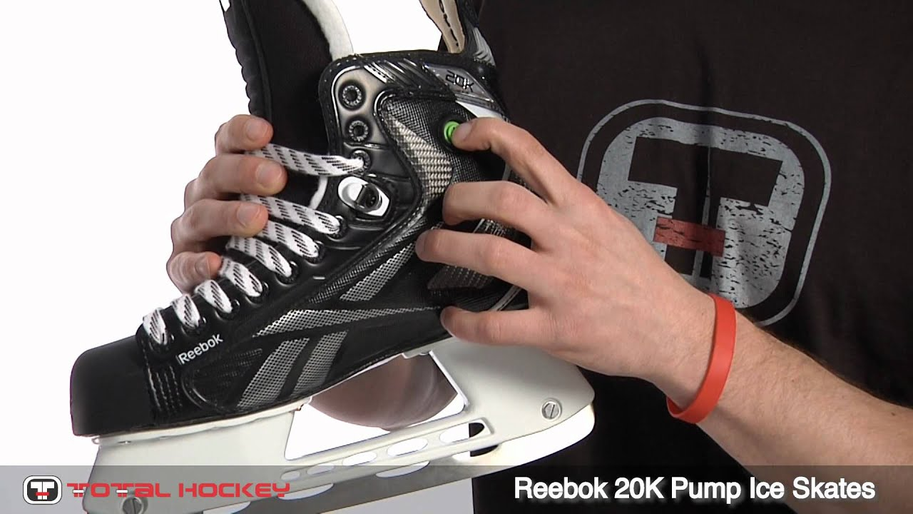 0c11a86f7fd Reebok 20K Pump Ice Skates - YouTube